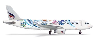"Bangkok ""Mascots"" A320 (HS-PPE ""Mahamongkoi"") (1:400) , Herpa 1:400 Scale Diecast Airliners Item Number HE562447"