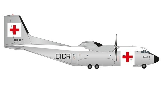 Balair / International Red Cross Transall C-160 (1:200) by Herpa 1:200 Scale Diecast Airliners