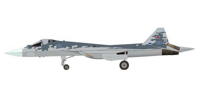 Sukhoi T-50 (SU-57) prototype - Pixel color scheme (1:200) by Herpa 1:200 Scale Diecast Airliners