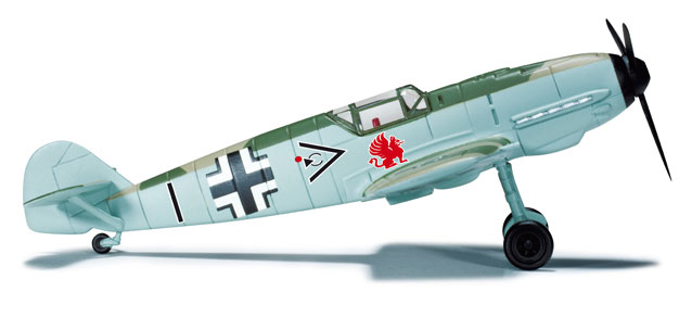 Messerschmitt BF-109E Luftwaffe JG 26, Hptm. Adolf Galland (1:87), Herpa HO Scale Models Item Number HE744089