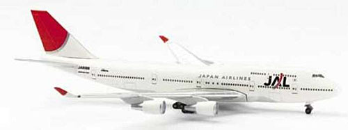 Jal 747-400 New Colors (1:500), Herpa 1:500 Scale Diecast Airliners Item Number HE504058