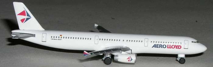 Aero Lloyd A321 (1:500), Herpa 1:500 Scale Diecast Airliners Item Number HE508674