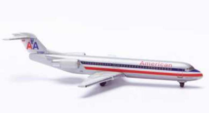 American F-100 (1:500), Herpa 1:500 Scale Diecast Airliners Item Number HE509329