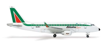 Alitalia ERJ170 (1:500), Herpa 1:500 Scale Diecast Airliners Item Number HE512336