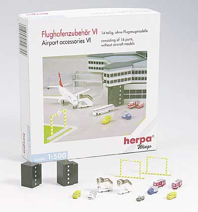 Airport Accessory Set 6 - Various Accessory Vehicles (1:500), Herpa 1:500 Scale Diecast Airliners Item Number HE519724