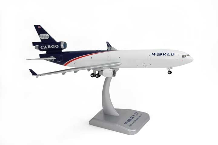 World Airways MD-11F (1:200) W/Gear, Hogan Wings Collectible Airliner Models Item Number HG2308G