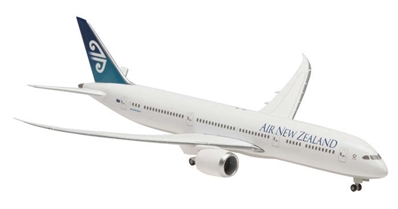 Air New Zealand 787-9 (1:400) with Gear, Straight Wings, No Stand, Hogan Wings Collectible Airliner Models Item Number HG5132