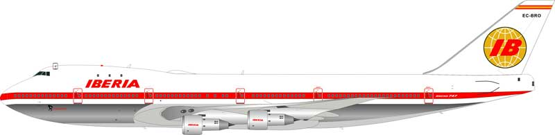 Iberia Boeing 747-100 EC-BRO (1:200) - Preorder item, Order now for future delivery