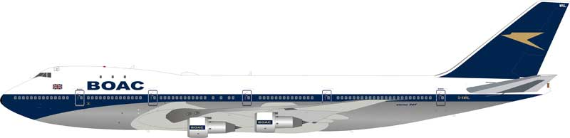 BOAC Boeing 747-100 G-AWNL Polished (1:200) - , InFlight 200 Scale Diecast Airliners Item Number B-741-BOAC-NLP