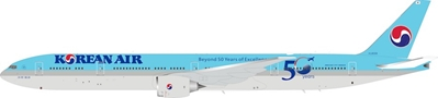 Korean Air Boeing 777-300/ER HL8008 Beyond 50 Years of Excellence (1:200) by InFlight 200 Scale Diecast Airliners Item Number: B-777-KL-0319
