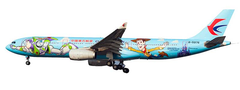 "China Eastern Airlines Airbus A330-300 B-5976 ""Toy Story"" (1:200) - Preorder item, order now for future delivery, InFlight 200 Scale Diecast Airliners Item Number BTS01"