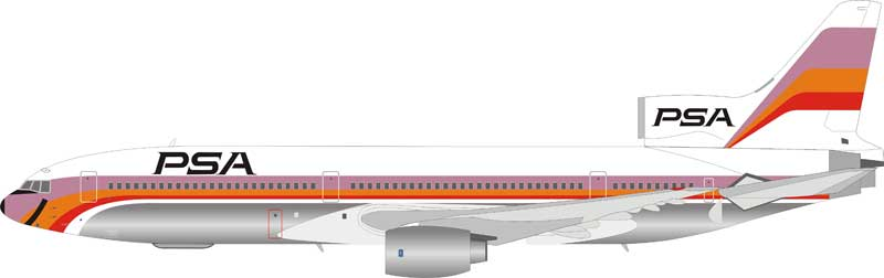 PSA Lockheed L-1011 N10112 Polished (1:200) - Preorder item, order now for future delivery