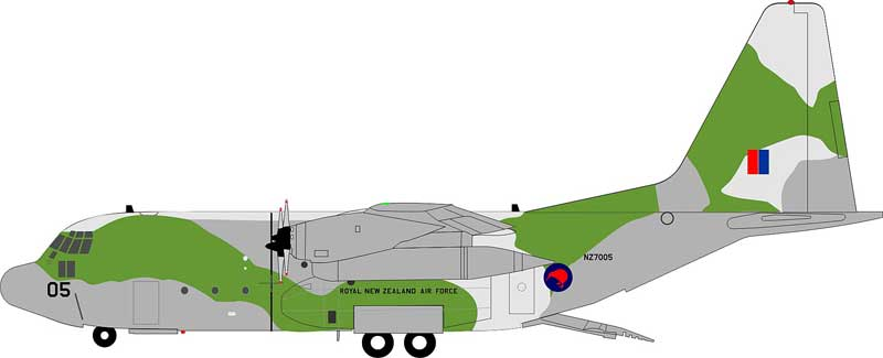 New Zealand Air Force Lockheed C-130H Hercules (L-382) NZ7005 (1:200) - Preorder item, Order now for future delivery