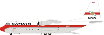 Saturn Airways Lockheed L-100-30 Hercules (L-382G) N15ST (1:200) - Preorder item, Order now for future delivery