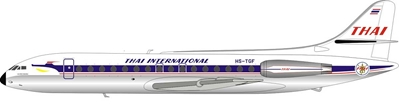 Thai Airways International Sud SE-210 Caravelle III HS-TGF Polished (1:200) - Preorder item, Order now for future delivery