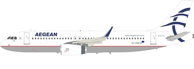 Aegean Airlines Airbus A320 SX-DNA (1:200) by InFlight 200 Scale Diecast Airliners Item Number: IF320SX-DNA