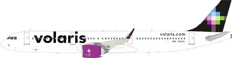 Volaris Airbus A321-271N N542VL stand included (1:200)