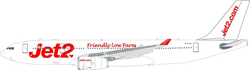 Jet2 Airbus A330-243 G-VYGL (1:200) - Preorder item, Order now for future delivery