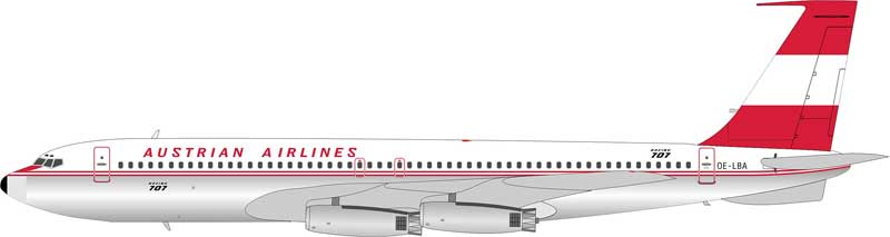 Austrian Airlines 707-329 OE-LBA (1:200), InFlight 200 Scale Diecast Airliners Item Number IF7070614P