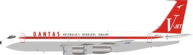 Qantas (John Travolta)  Boeing 707-100 N707JT (1:200) - Preorder item, Order now for future delivery , InFlight 200 Scale Diecast Airliners Item Number IF7071JTP