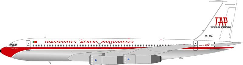 TAP Transportes Aereos Portugueses 707-382B CS-TBA (1:200) - Preorder item, order now for future delivery