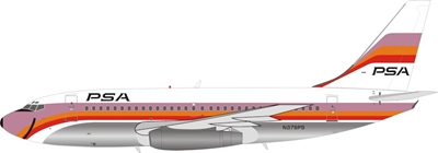 PSA Pacific Southwest Airlines Boeing 737-214 N379PS (1:200) - Preorder item, order now for future delivery, InFlight 200 Scale Diecast Airliners, Item Number IF732PS0119P