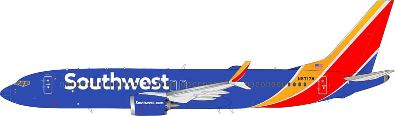 "Southwest Airlines Boeing 737-8 Max N8717M ""10000th Boeing 737 to roll off the assembly line"" (1:200) - Preorder item, Order now for future delivery"