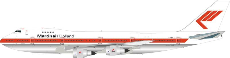 Martinair Boeing 747-200 PH-MCE (1:200) - Preorder item, order now for future delivery, InFlight 200 Scale Diecast Airliners Item Number IF7420817B