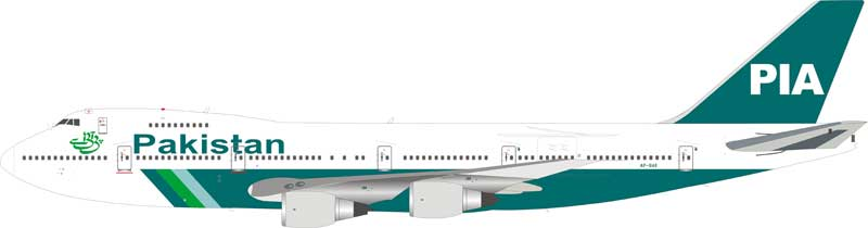 PIA Pakistan International Airlines Boeing 747-200 AP-BAK (1:200) - Preorder item, order now for future delivery, InFlight 200 Scale Diecast Airliners Item Number IF742PK0818
