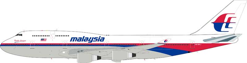 "Malaysia Airlines Boeing 747-4H6M ""Kuala Lumpur"" 9M-MHL (1:200), InFlight 200 Scale Diecast Airliners Item Number IF744MH01"