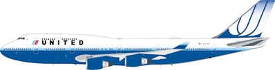 United Airlines Boeing 747-400 N171UA (1:200) - Preorder item, order now for future delivery, InFlight 200 Scale Diecast Airliners, Item Number IF744UA0119