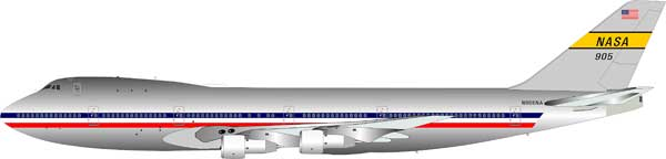 NASA Boeing 747 N905NA (1:200), Polished - Preorder item, order now for future delivery, InFlight 200 Scale Diecast Airliners Item Number IF747NASA001