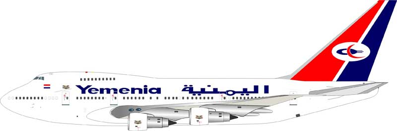 Yemenia - Yemen Airways Boeing 747SP-27 7O-YMN (1:200), InFlight 200 Scale Diecast Airliners Item Number IF747SP0914