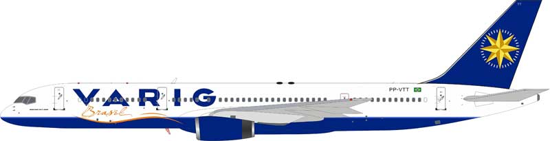 Varig Boeing 757-256 PP-VTT With Stand (1:200)