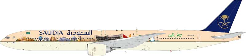 "Saudi Arabian Airlines Boeing 777-300ER ""Famous Landmarks"" HZ-AK28 (1:200) - Preorder item, order now for future delivery"