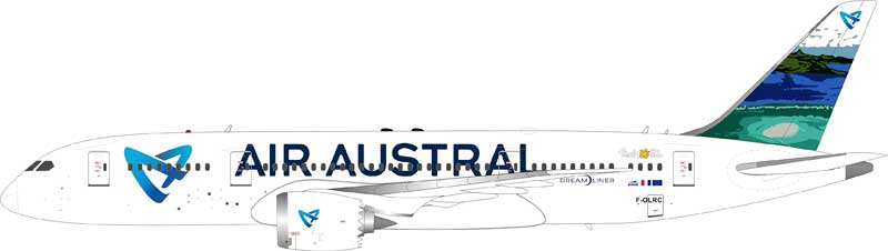 Air Austral Boeing 787-8 Dreamliner F-OLRC (1:200), InFlight 200 Scale Diecast Airliners Item Number IF7870616