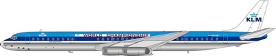 "KLM DC-8-63 PH-DEF ""World Championship"" Polished (1:200) - Preorder item, Order now for future delivery"