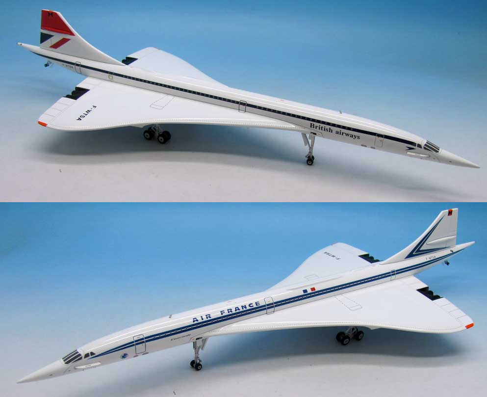 British Airways / Air France Concorde F-WTSA (1:200), InFlight 200 Scale Diecast Airliners Item Number IFCONCSST002