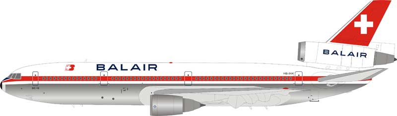 Balair McDonnell Douglas DC-10-30 HB-IHK Polished (1:200) by InFlight 200 Scale Diecast Airliners Item Number: IFDC10BB0119P