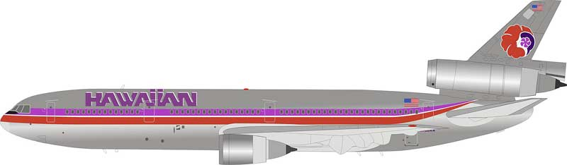 Hawaiian Airlines DC-10-10 N160AA Polished  (1:200) LIMITED 84 MODELS  - Preorder item, order now for future delivery