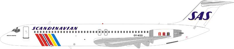 "Scandinavian Airlines SAS DC-9-41 OY-KGO ""Holte Viking"" (1:200) - Preorder item, Order now for future delivery"