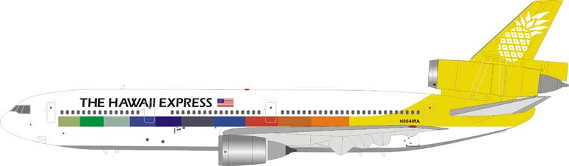 The Hawaii Express McDonnell Douglas DC-10-10 N904WA (1:200) - Preorder item, Order now for future delivery , InFlight 200 Scale Diecast Airliners Item Number IFLPDC10001
