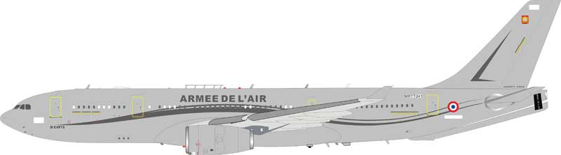 French Air Force Airbus A330-202 (MRTT) MRTT041 (1:200) - Preorder item, order now for future delivery , InFlight 200 Scale Diecast Airliners, Item Number IFMRTTFAF001