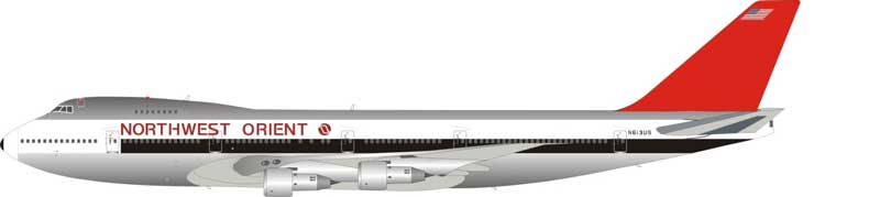 Northwest Orient Airlines Boeing 747-200 N613US (1:200) - Preorder item, Order now for future delivery