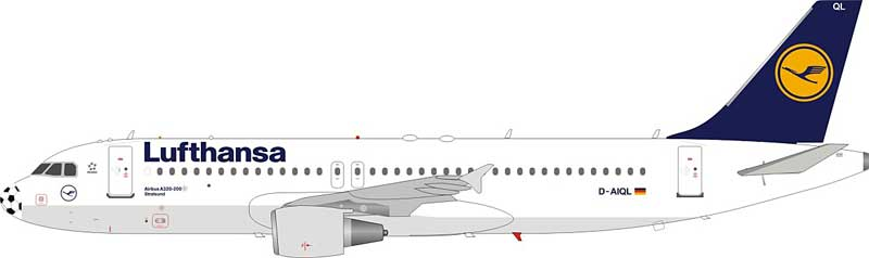 Lufthansa Airbus A320-211 D-AIQL Football Nose (1:200) - Preorder item, Order now for future delivery