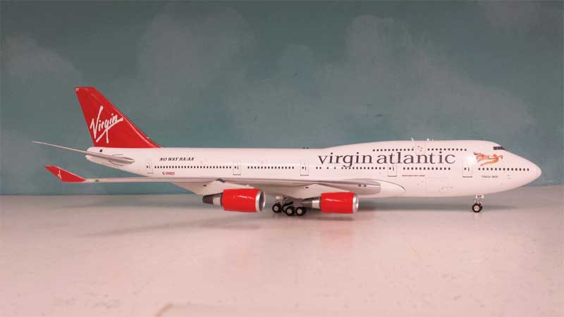 Virgin Atlantic 747-400 G-VHOT (1:200), InFlight 200 Scale Diecast Airliners Item Number WB744OT