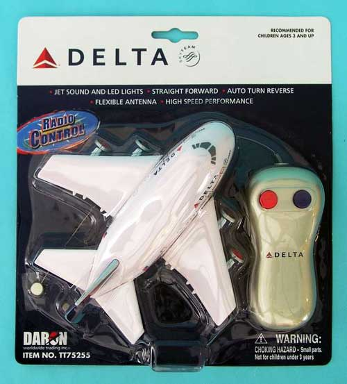 Delta Airlines Radio Control Airplane, Toytech Item Number TT75255
