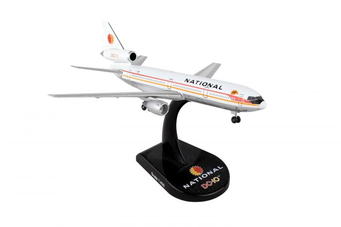 National DC-10 (1:400) - Preorder item, order now for future delivery by Postage Stamp Diecast Planes item number: PS5820-2
