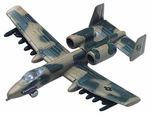 "A-10 Thunderbolt (Approx. 6""), Motormax Diecast Item Number DC6-A10"