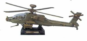 AH-64 Apache Helicopter (1:48), Motormax Diecast Item Number DP-APACHE